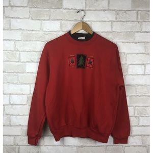 Top Stitch Festive Christmas Sweater Size L